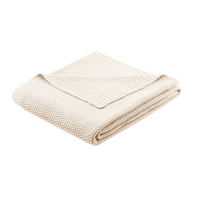 60 x50  Bree Knit Throw Blanket Ivory