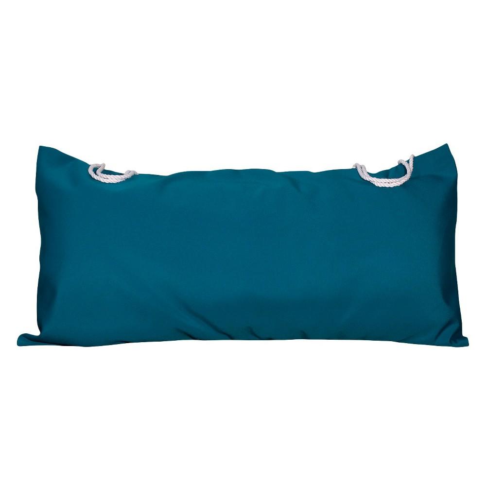 Algoma Deluxe Sunbrella Hammock Pillow - Canvas Teal (Blue)