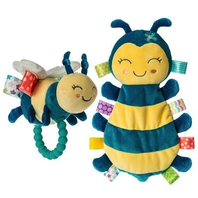 Mary Meyer Fuzzy Buzzy Bee Taggies(TM) Set - Fuzzy Buzzy Bee Lovey & Teether Rattle
