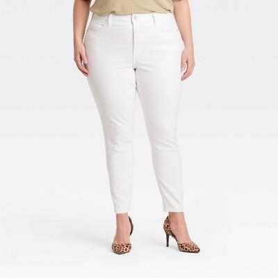 Women's Plus Size High-Rise Skinny Jeans - Ava & Viv™