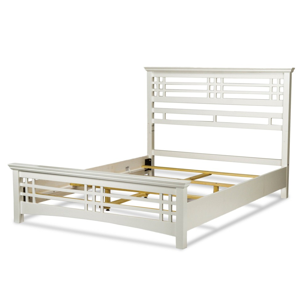 Avery Bed - Cottage White - California King - Fashion Bed Group, Light Off-White