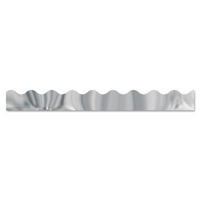 "Trend Terrific Trimmers Metallic Borders Silver 12 Strips 2 1/4"" x 39"" each T91253"