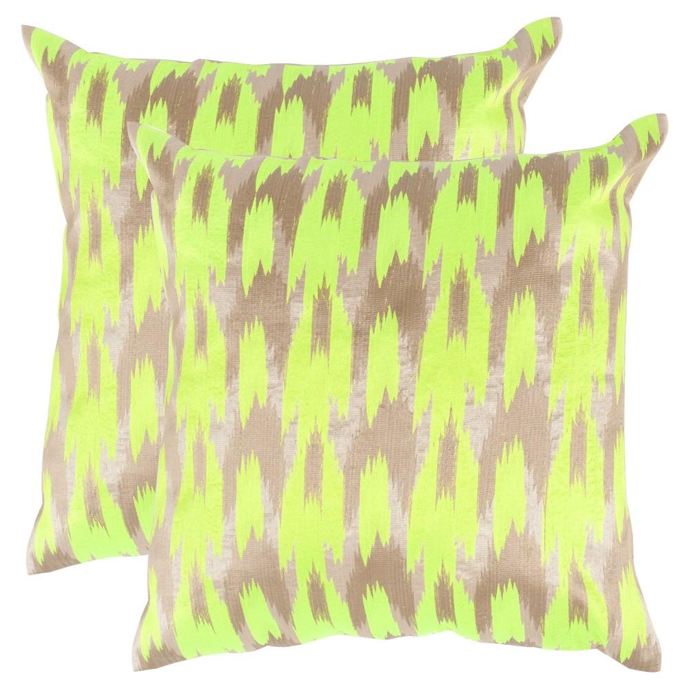 2pk Green Set Ora Throw Pillow (18