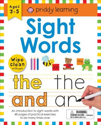 Sight Words : Wipe Clean With Pen & Flash Cards - Workbook by Roger Priddy (Paperback)