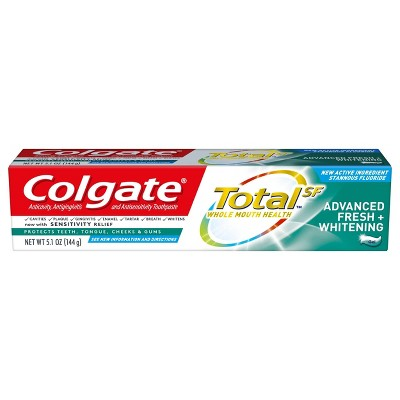 Toothpaste: Colgate Total Advanced Fresh + Whitening