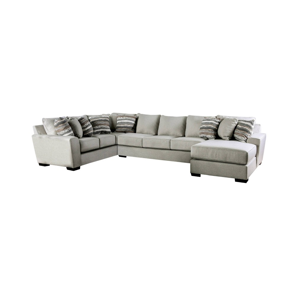 Image of Senseo Flared Arm Sectional Beige - HOMES: Inside + Out