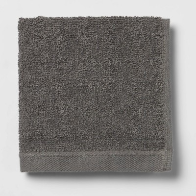 Everyday Solid Washcloth Charcoal Gray - Room Essentials™