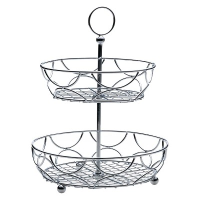 Towle Living Two-Tiered Round Basket (12 D x 15.5 H)