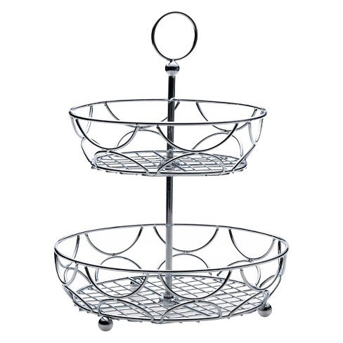 "Towle Living Two-Tiered Round Basket (12""D x 15.5""H) - image 1 of 1"