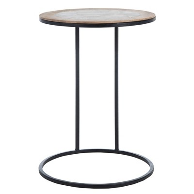 Gemma Agate Side Table Black - Safavieh
