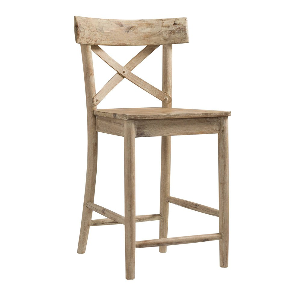 Image of 1pc Keaton Counter Height Stool Beach - Picket House Furnishings, Beige