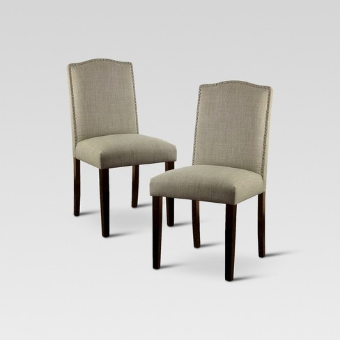 Camelot Nailhead Dining Chair - Toast (Set of 2) - Threshold™ - image 1 of 8