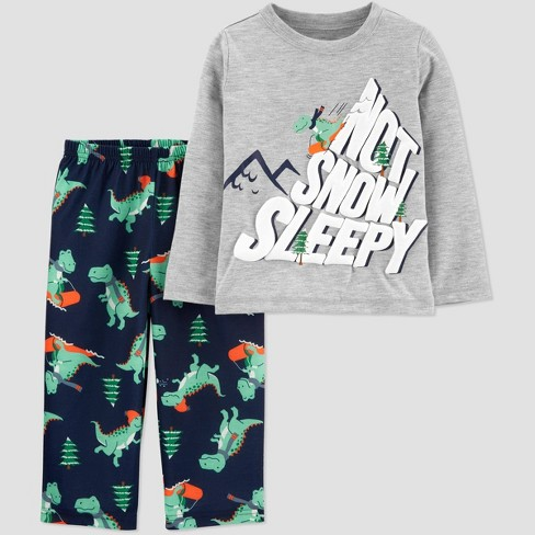Toddler Boys' Snow Sleepy Pajama Set - Just One You® made by carter's Gray/Blue - image 1 of 1