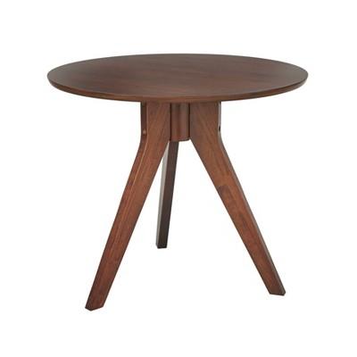 Merveilleux Stratos Round Side Table Walnut   Angelo Home