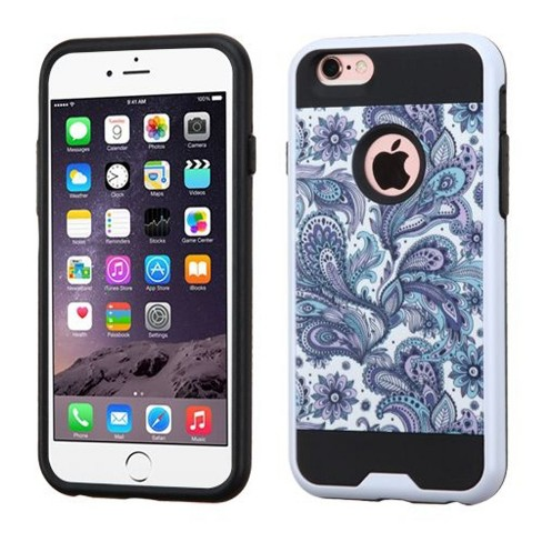 ASMYNA For Apple iPhone 6 Plus/6s Plus Purple White European Flowers Hard Hybrid Case - image 1 of 4