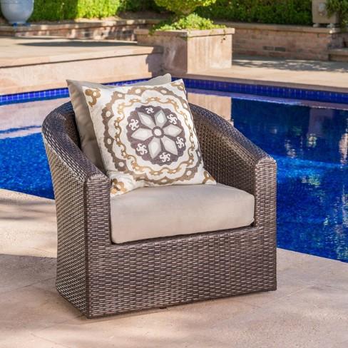 Darius Wicker Swivel Club Chair - Christopher Knight Home - image 1 of 4