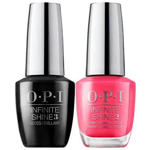 Opi Infinite Shine Prostay Top Coat Duo Strawberry Margarita 1 Fl Oz Target