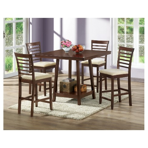Kelsey Wood Modern Counter Stool - Brown (Set of 2) - Baxton Studio - image 1 of 3