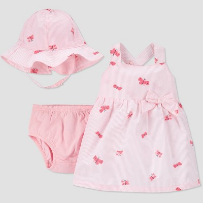 Baby Girls' 2pc Butterfly Dress with Hat - Just One You® made by carter's Pink