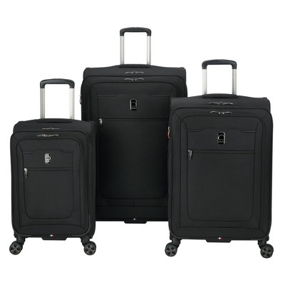 DELSEY Paris Hyperglide 3pc Luggage Set - Black