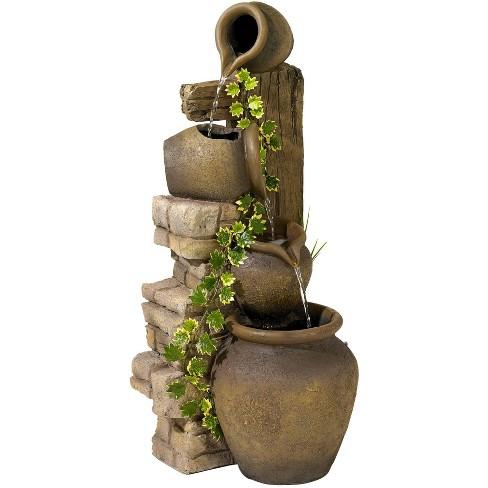 John Timberland Rustic Floor Water Fountain Three Jugs Cascading 33 High Indoor Outdoor For Yard Garden Lawn Target