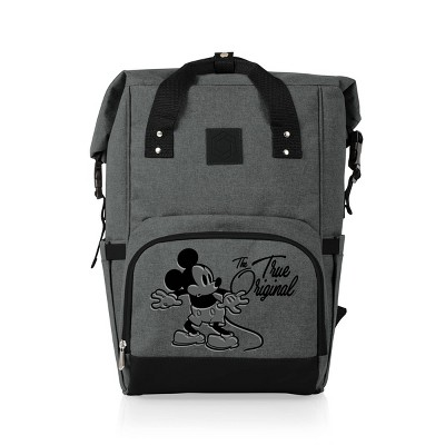 Picnic Time Disney Mickey Mouse & Friends On The Go Roll-Top 18.3qt Cooler Backpack - Heathered Gray