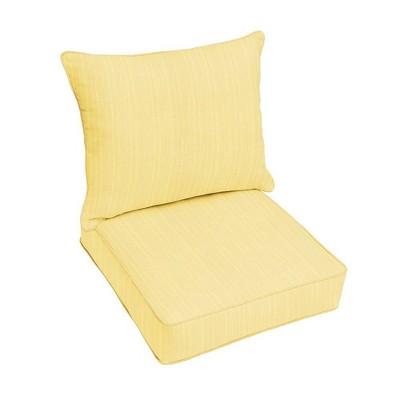 Sunbrella Textured Outdoor Seat Cushion Yellow
