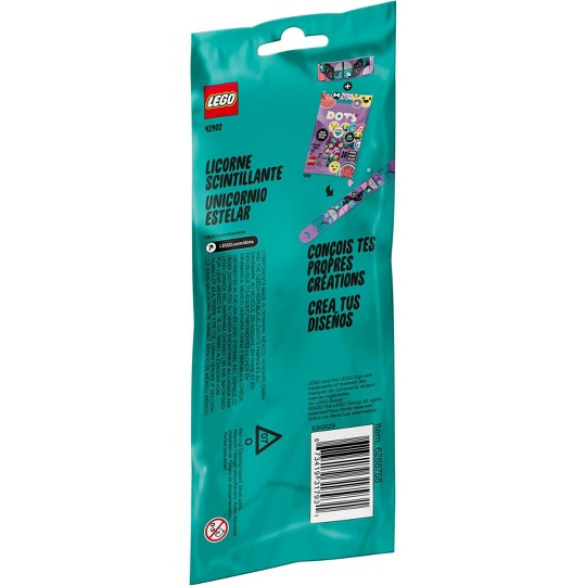 LEGO DOTS Sparkly Unicorn Bracelet Creative Jewelry DIY Craft Bracelet Making Kit 41902 image number null