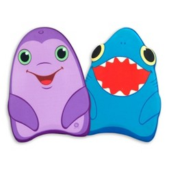 Melissa & Doug Sunny Patch Dolphin and Shark Kickboards - Learn-to-Swim Pool Toys (Set of 2), Kids Unisex, Blue