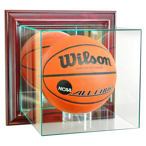 Perfect Cases - Wall Mounted Basketball Display Case - Cherry Finish - image 1 of 1