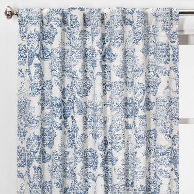 Charade Floral Light Filtering Curtain Panels - Threshold™