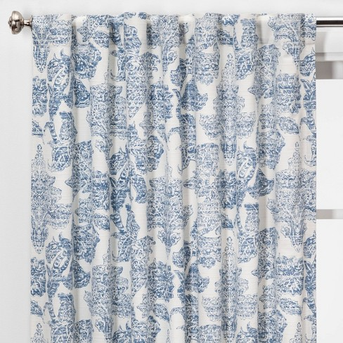 Charade Floral Light Filtering Curtain Panels - Threshold™ - image 1 of 4
