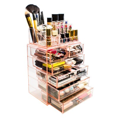 Sorbus Cosmetic Makeup and Jewelry Storage Case Display - Spacious Design (4 Large - 2 Small Drawers - Pink)