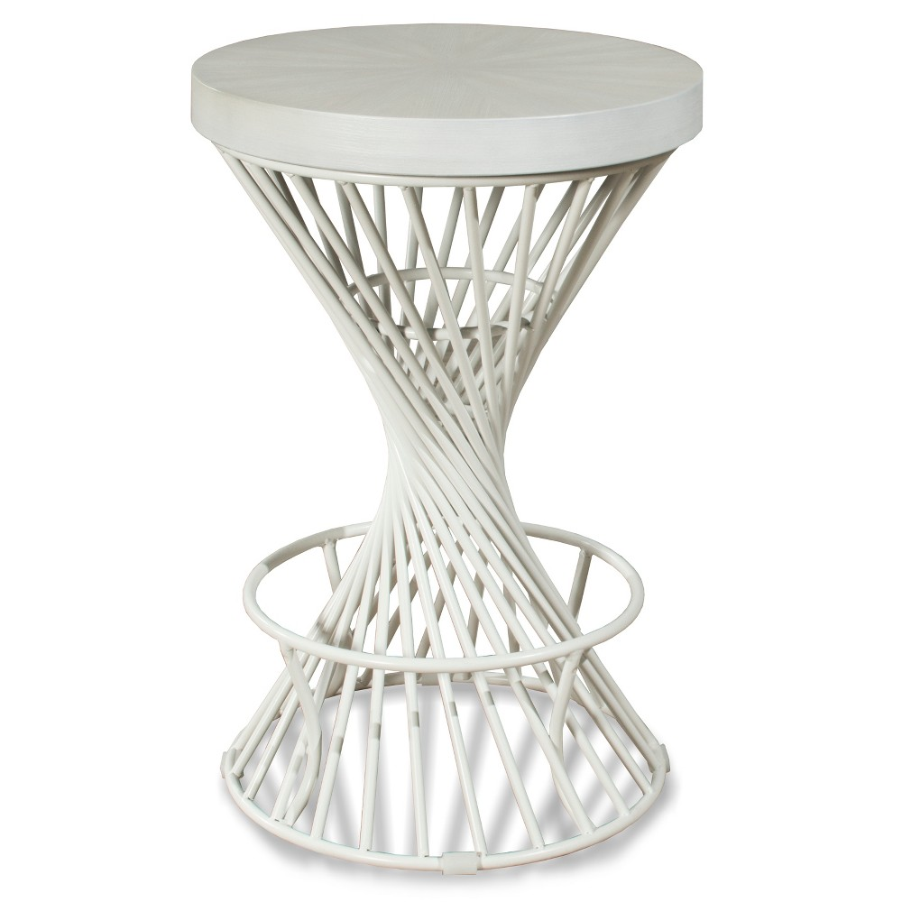 26 Kanister Backless Counter Stool White - Hillsdale Furniture