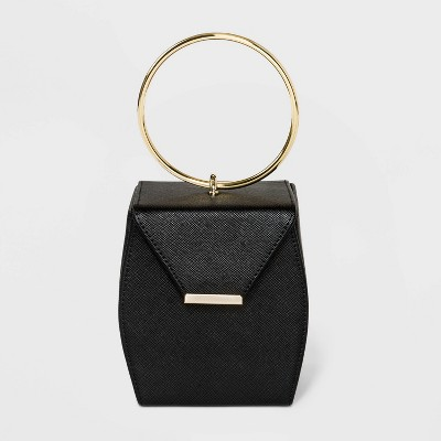 Estee & Lilly Top Handle Box Clutch