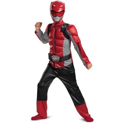Power Rangers Red Ranger Beast Morpher Classic Muscle Child Costume