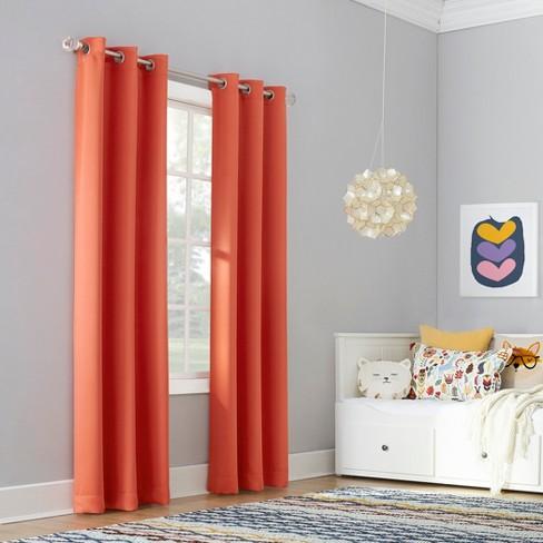 Riley Kids Bedroom Grommet Top Blackout Window Curtain Panels - Sun Zero - image 1 of 4