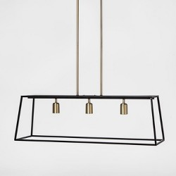 3 Light Pendant Modern Farmhouse Ceiling Light Black - Threshold™