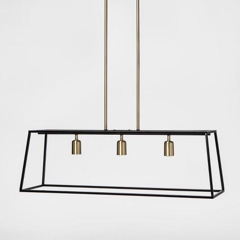 3 Light Pendant Modern Farmhouse Ceiling Black Threshold