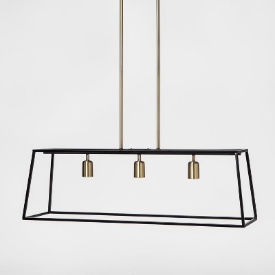 Charmant 3 Light Pendant Modern Farmhouse Ceiling Light Black   Threshold™ : Target