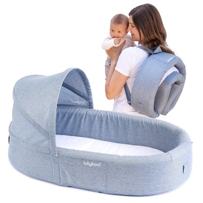 Lulyboo Portable Baby Lounge and Travel Nest - Denim
