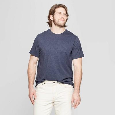 Men's Tall Standard Fit Short Sleeve Lyndale Crew T-Shirt - Goodfellow & CoÂ? Jamestown Blue LT