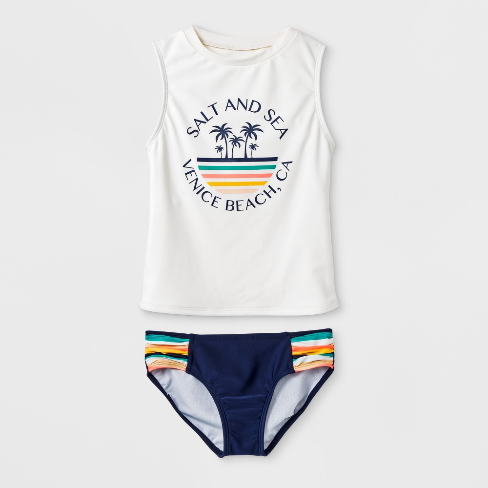 Girls' Salt & Sea Tankini Set - art class Blue XL