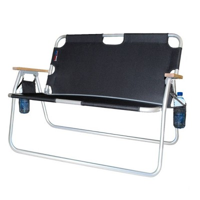 Tailgater Two Person Folding Aluminum Chair Black - Algoma