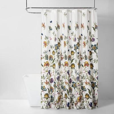 Jacobean Shower Curtain Floral - Threshold™
