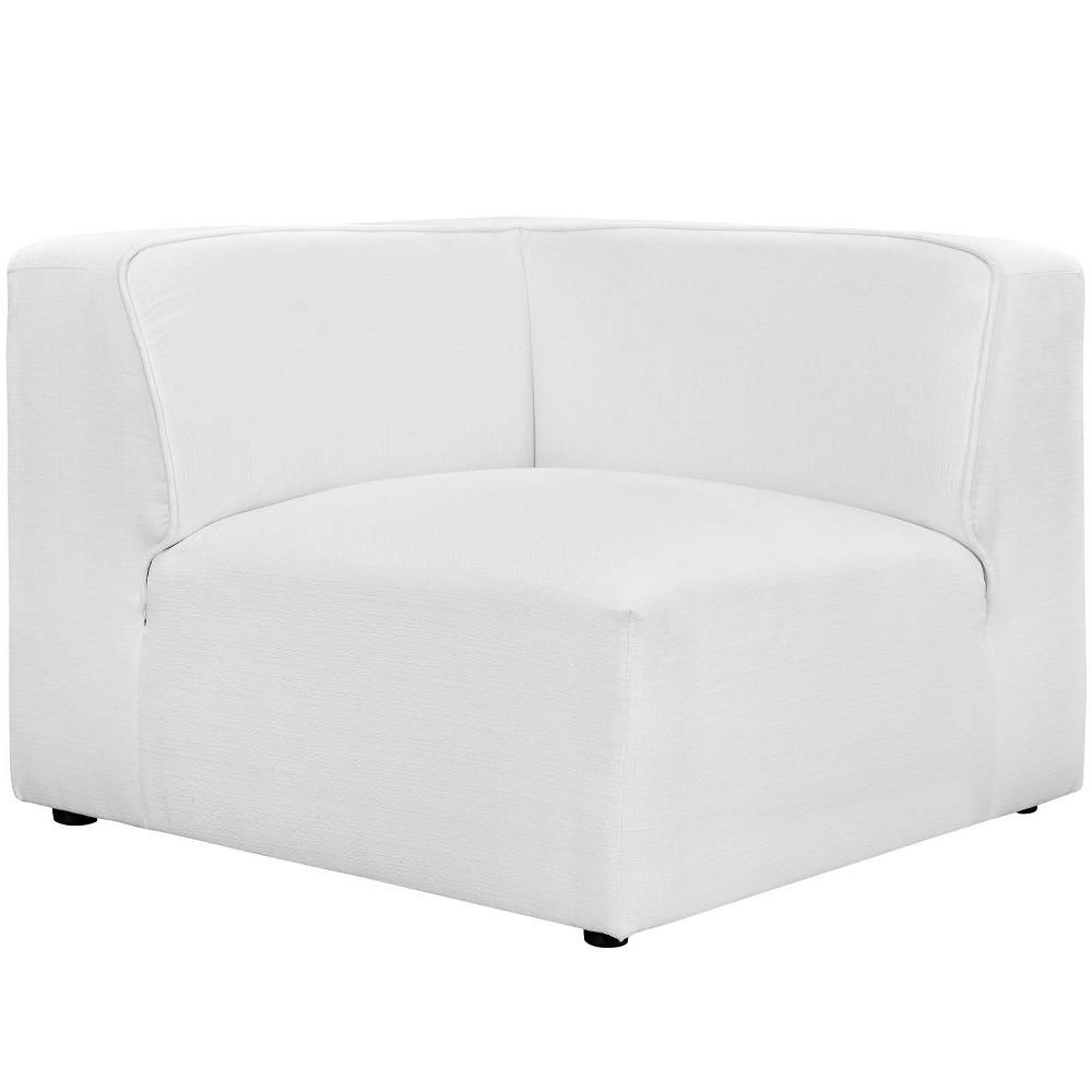 Best Buy Mingle Corner Sofa White Modway