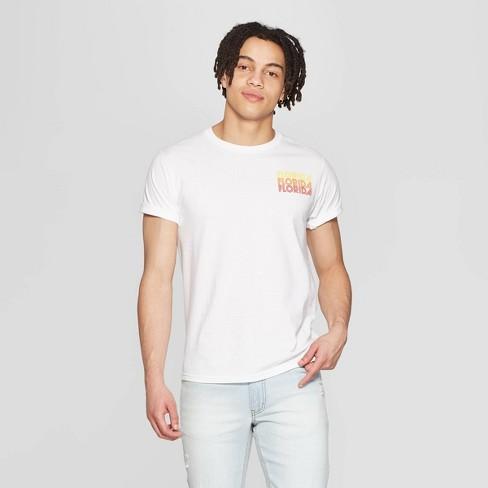 Men's Short Sleeve Crewneck Florida Graphic T-Shirt - Awake White - image 1 of 2