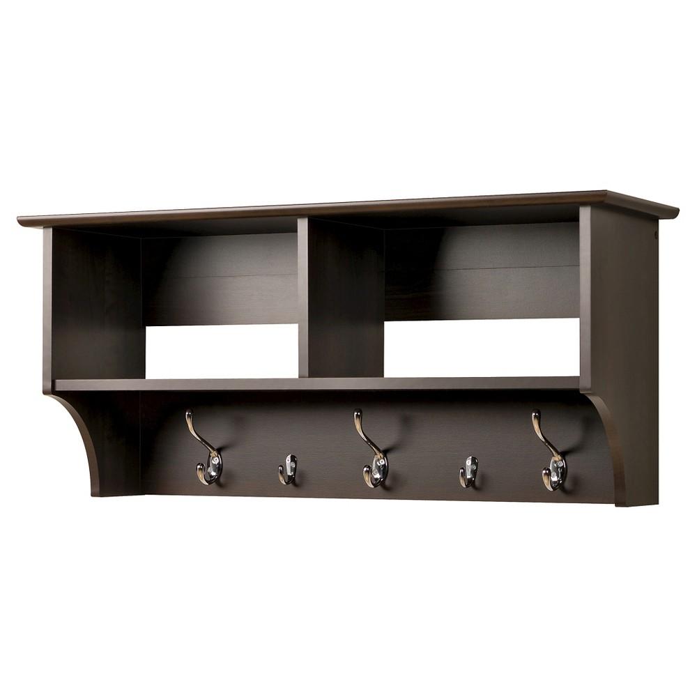 Wide Hanging Entryway Shelf Espresso (Brown) 36 - Prepac