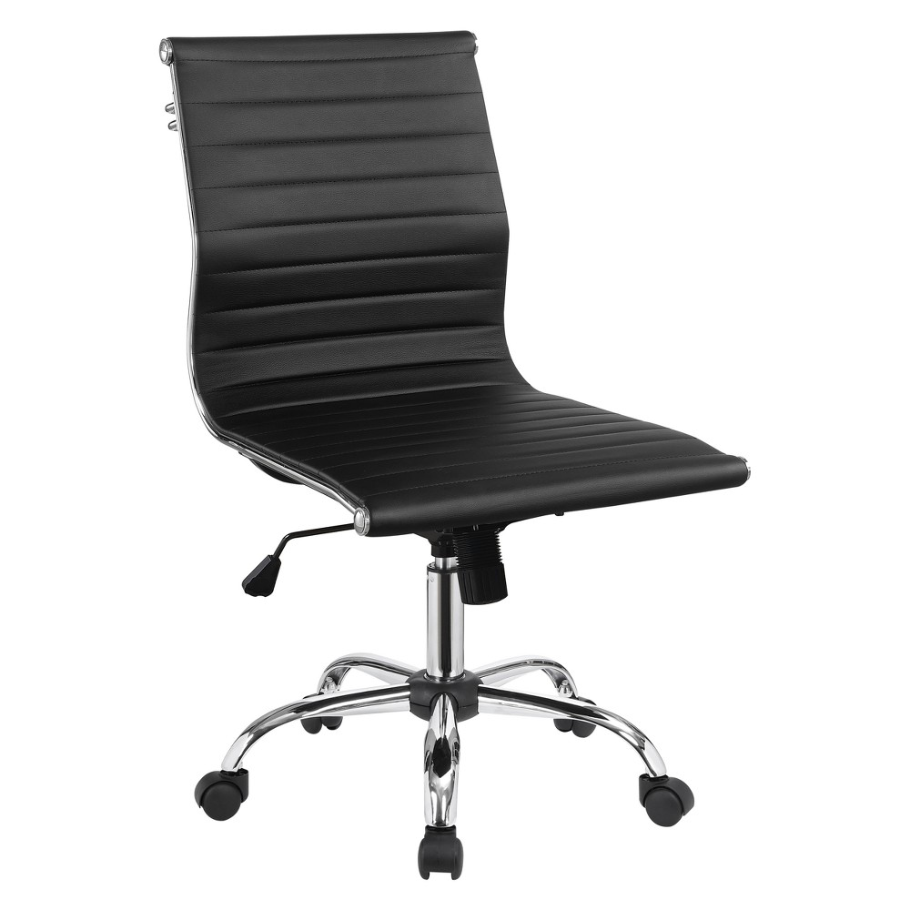 Iohomes Lukes Contemporary Leatherette Office Chair Black - Homes: Inside + Out