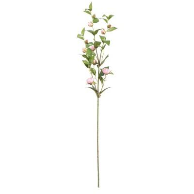 Artificial Tea Rose Spray (34'') Pink/Cream - Vickerman